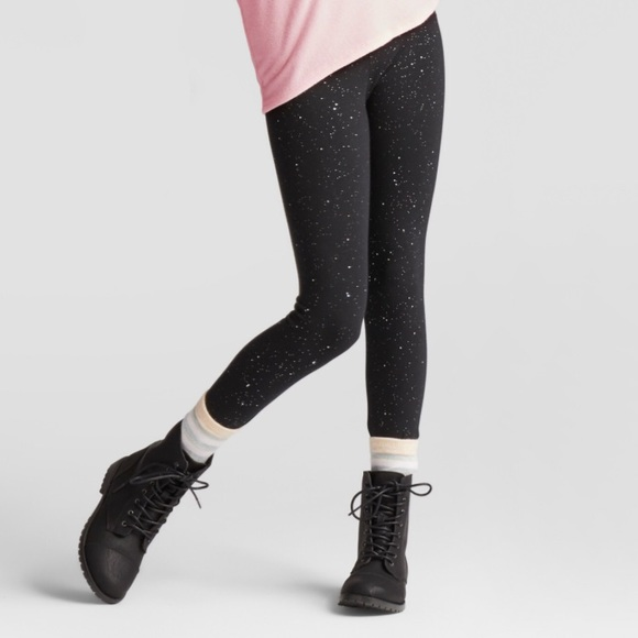 9856965da3651 unbranded Bottoms | Leggings Black Sparkles Space Cosmos Girls ...